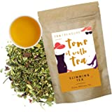 Tea Treasure - Slimming Tea - 100 gm - Wellnes tea Loose leaves with Moringa, Seabuckthrone, Licorice, Ginger, Cinnamon and Rose - meltdown saturated fat naturally , contains proteins, vitamins, and minerals, Keeps Metabolism High.