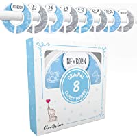 Baby Closet Size Dividers Boy by Elle with Love – Set of 8 – Baby Closet Dividers Boy - For Nursery Closet Organization…