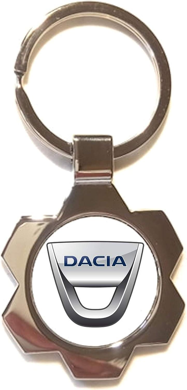 Schlüsselanhänger Silverstone Metall Silber Dacia Bekleidung