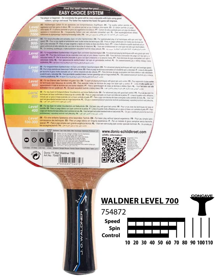 Donic Schildkrot-Waldner niveau ligne 400 TABLE TENNIS BAT