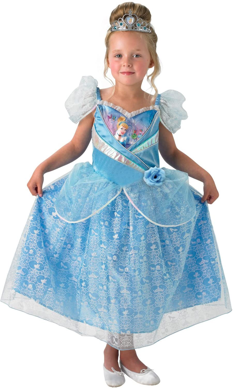 Rubies Disfraz oficial de Cenicienta Shimmer para niños, grande ...