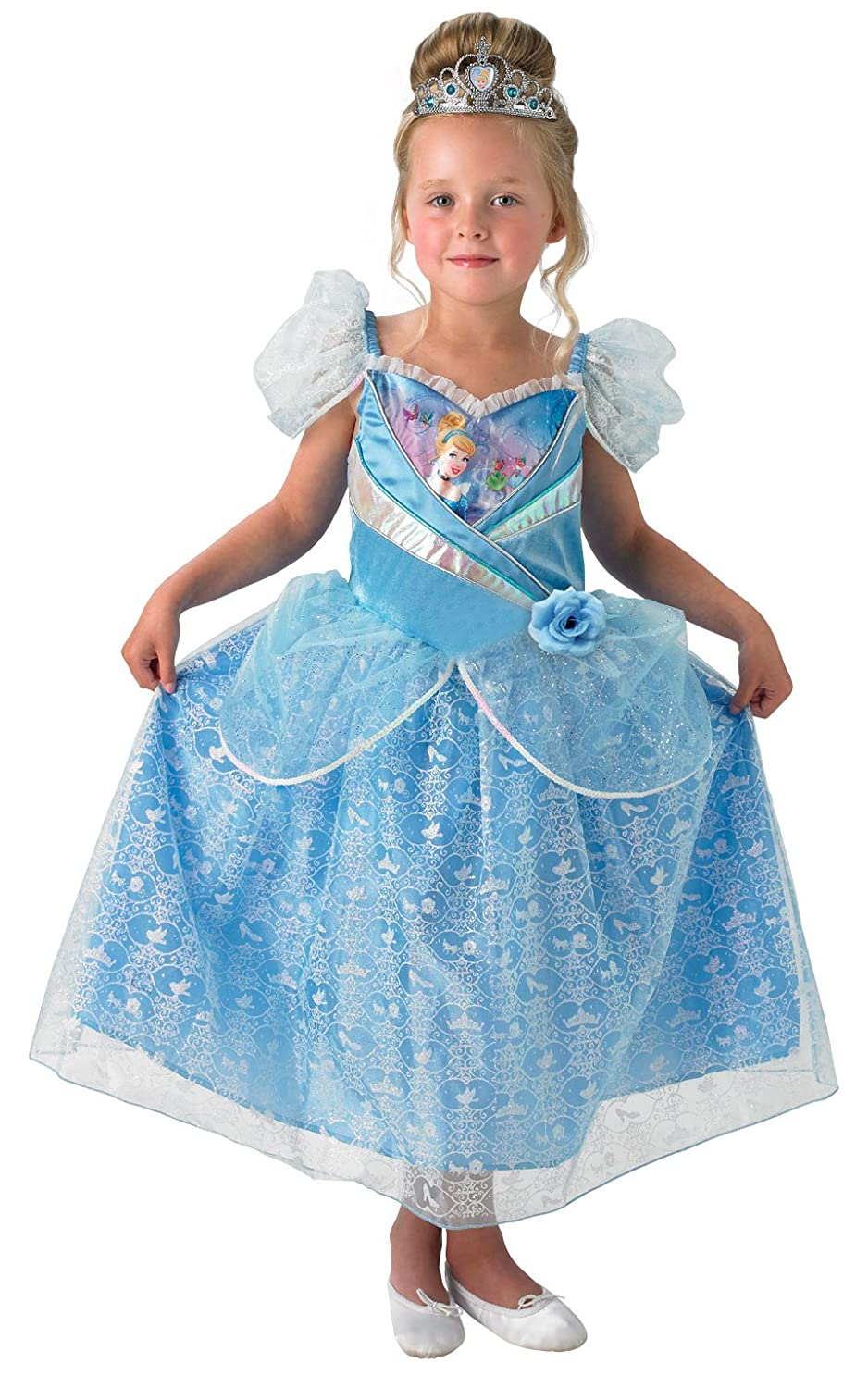 Rubieu0027s Official Shimmer Cinderella Children Costume - Small Amazon.co.uk Toys u0026 Games  sc 1 st  Amazon UK & Rubieu0027s Official Shimmer Cinderella Children Costume - Small ...