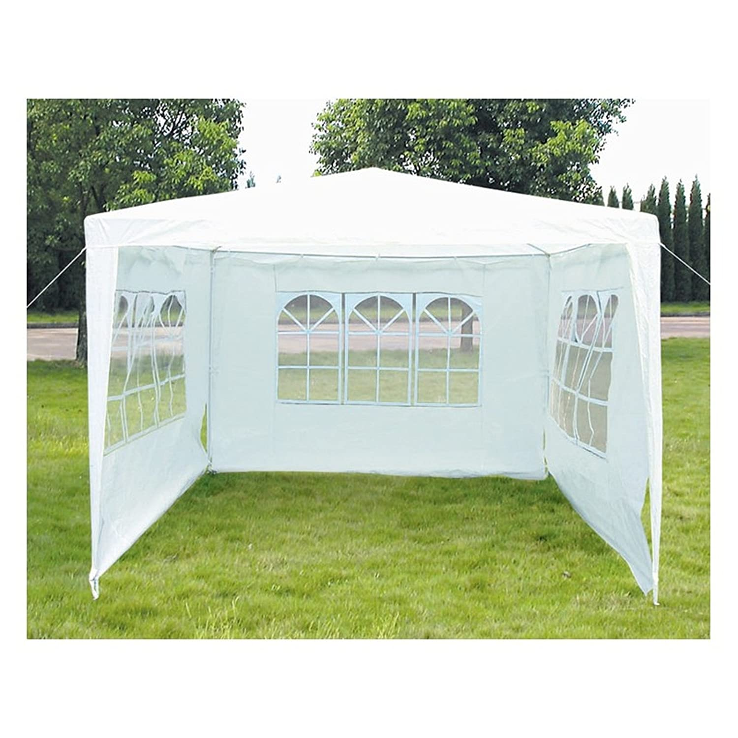 3M x 3M Garden Gazebo Outdoor Waterproof Marquee Party Tent Awning White Amazon.co.uk Garden u0026 Outdoors  sc 1 st  Amazon UK & 3M x 3M Garden Gazebo Outdoor Waterproof Marquee Party Tent Awning ...