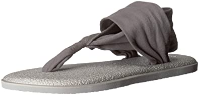 b86c32f3f Sanuk Women s Yoga Sling 2 Solid Vintage Sandal Charcoal Metall 5