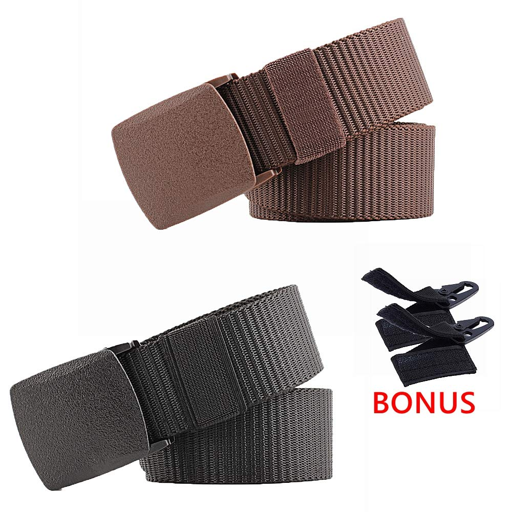 INIBUD Nylon Belt Military Tactical Style Breathable Adjustable Plastic Buckle