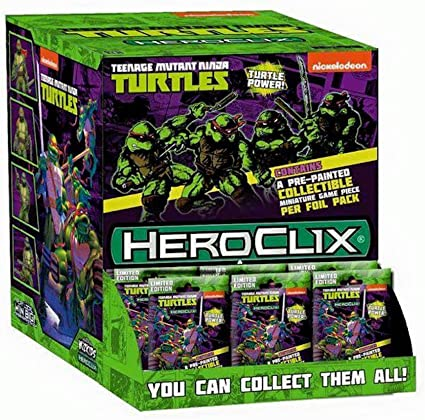 WizKids Teenage Mutant Ninja Turtles HeroClix: Gravity Feed Display (24 Booster Packs)