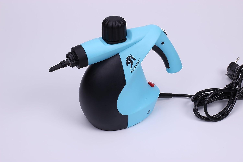 Multi-usages et multi-surfaces Nettoyage /à la vapeur naturel Bleu Auto Nettoyeur /à vapeur pressuris/é portatif MLMLANT avec ensemble daccessoires de 11 pi/èces Patio