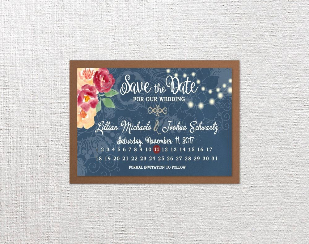Amazon Calendar Save The Date Cards Wedding Bridal Shower