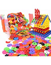 Naisidier Interlocking Brain Flakes 100 Piece Plastic Disc Set t for Cognitive Development Creative Building Educational STEM Construction Toy