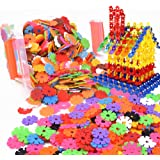 Beautyer Brain Flakes 100 Piece Interlocking Plastic Disc Set Creative and Educational Alternative to Building Blocks for Kids