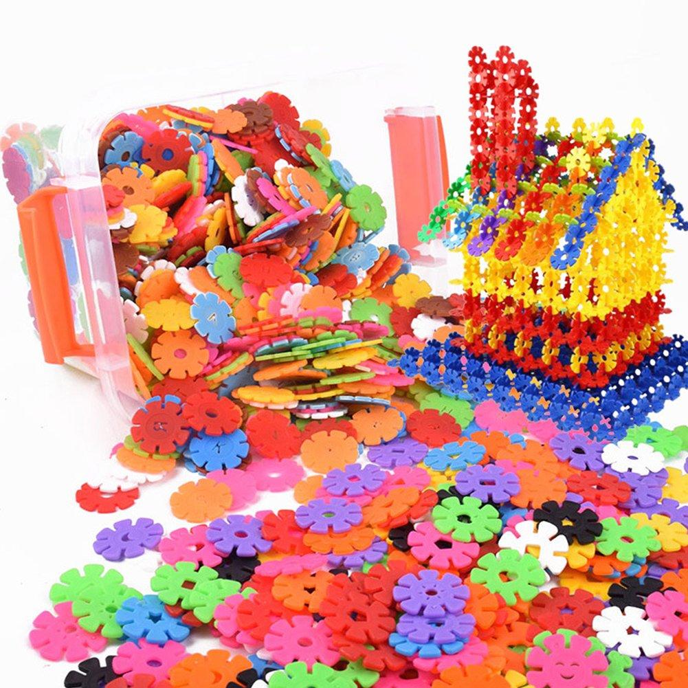 Creativi bambini Flakes 100 pezzi ad incastro in plastica Set di dischi per divertimento creativo edificio educativo STAM giocattolo di costruzione per ragazzi e ragazze Naisidier