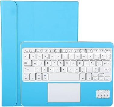CoastaCloud Funda con Teclado Bluetooth Teclado Bluetooth Inalámbrico 3.0 QWERTY Español con Multi Touchpad - Compatible 9-10.5 Pulgadas Cualquier ...
