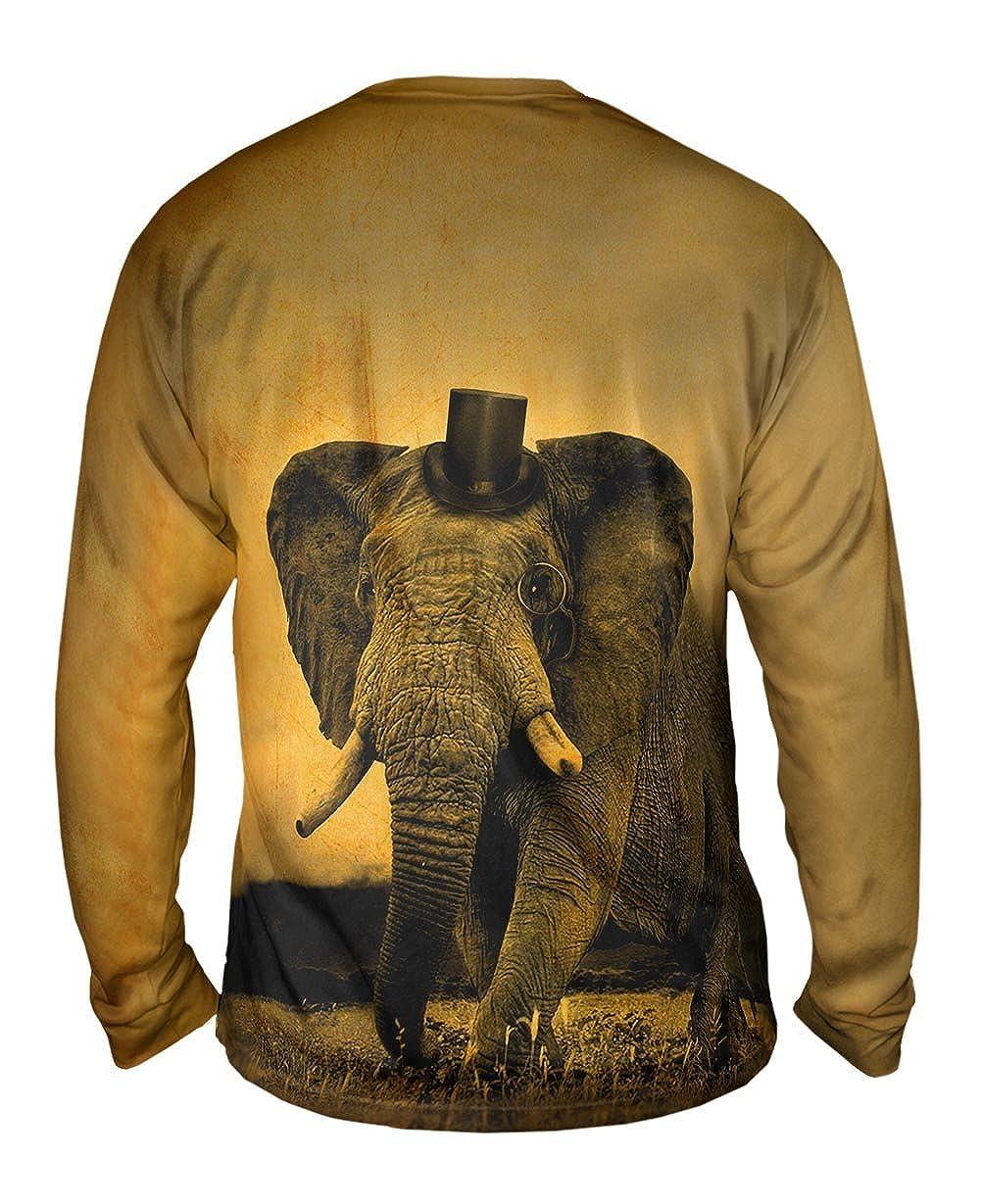 TShirt Mens Long Sleeve Yizzam Top Hat Elephant