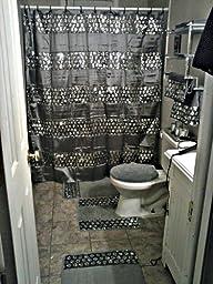 Popular bath sinatra silver shower curtain for Bathroom ideas amazon