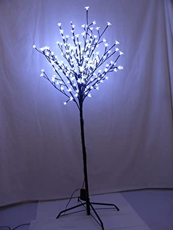 5ft Light Up Large Bright White Snowflake Style Artificial Tree