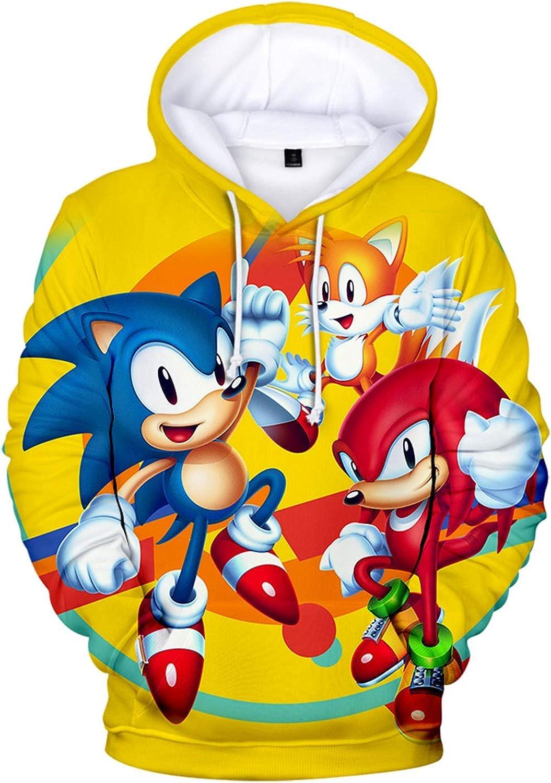 Amazon Com Cheerful D Sonic Hedgehog Unisex Hoodie 3d Printed Hooded Pullover Sweatshirt For Men Women Boys Girls Clothing