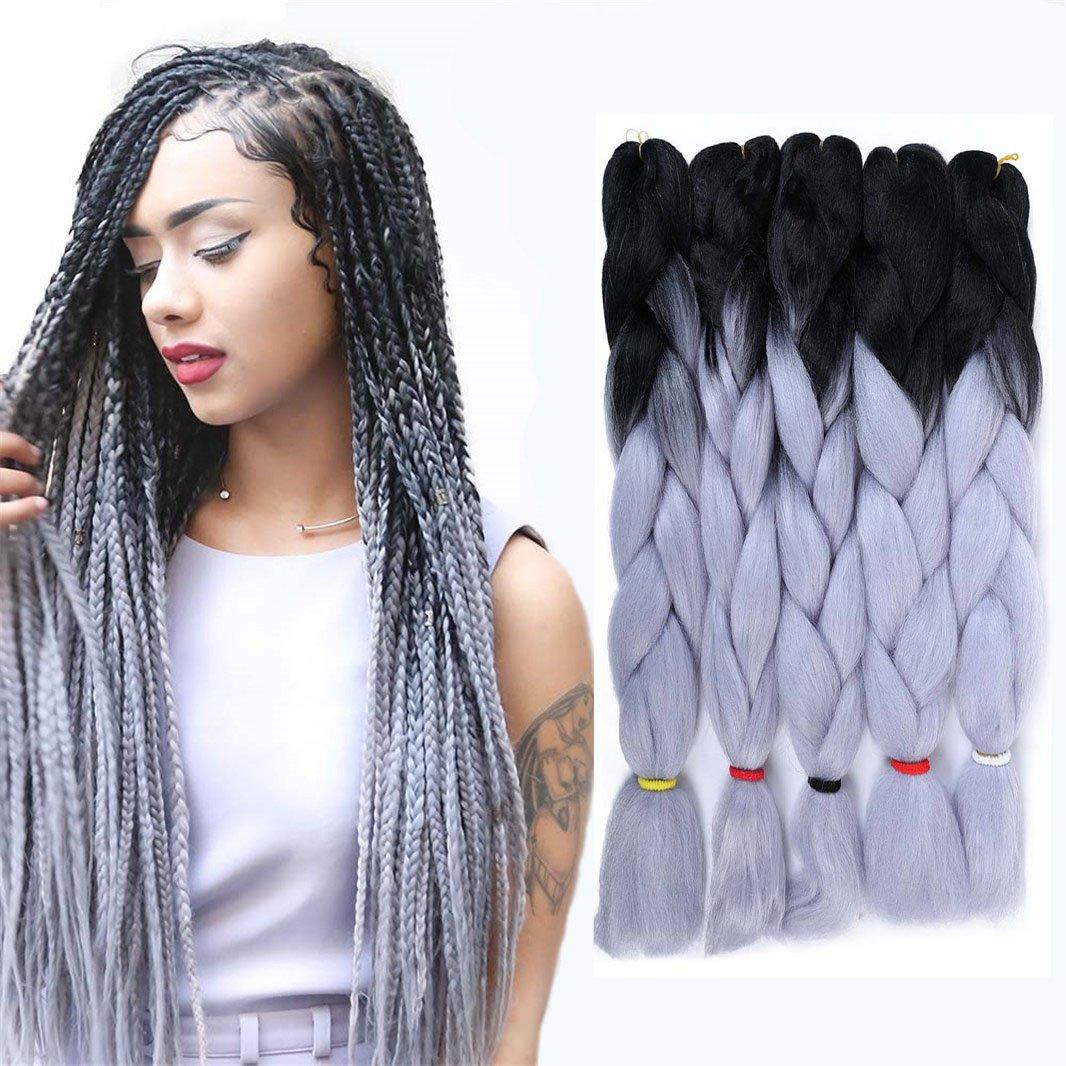 Amazon 3 Tone Braiding Hair Extension Kanekalon Synthetic