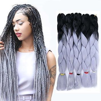 Amazon Com 3 Tone Braiding Hair Extension Kanekalon Synthetic