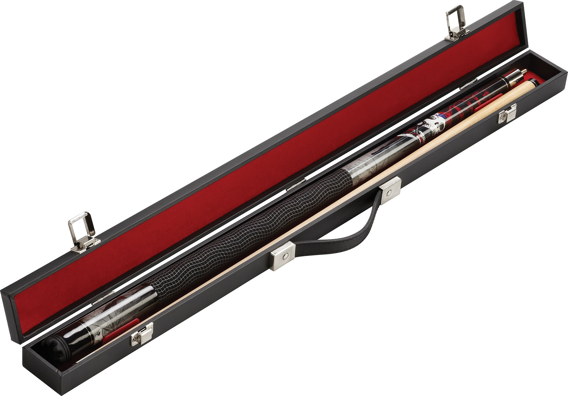 Fat Cat Q-Vault Billiard/Pool Cue Hard Case, Holds 1 Complete 2-Piece Cue (1 Butt/1 Shaft)