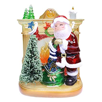 Roman Lights Santa Fireplace Nightlight Decorative Home New Nite Lite Christmas