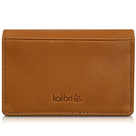 Amazon kalibri business card box visiting card holder business kalibri business card box visiting card holder business card folder leather card cover visiting cards reheart Images
