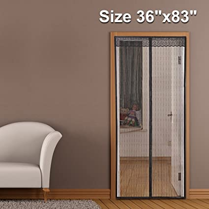 Magnet Screen Door Exterior Patio Door Mesh 48 X 83 Fit Doors Size