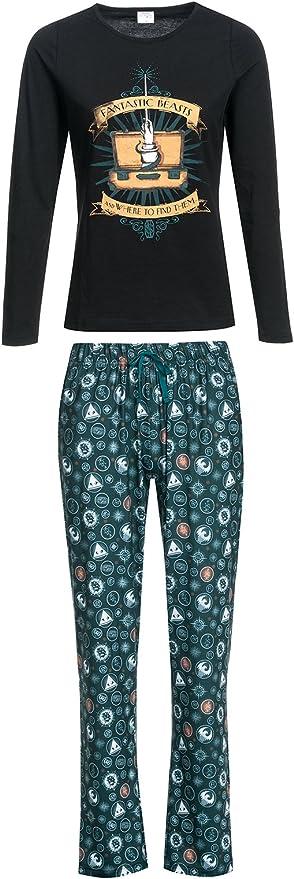 Animales Fantásticos y Dónde Encontrarlos Suitcase Wizard Pijama Verde Oscuro XS: Amazon.es: Ropa y accesorios