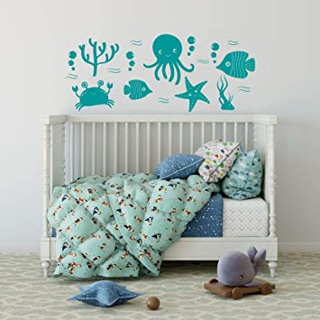Amazoncom Under The Sea Wall Decal Fish Wall Decal Under The Sea