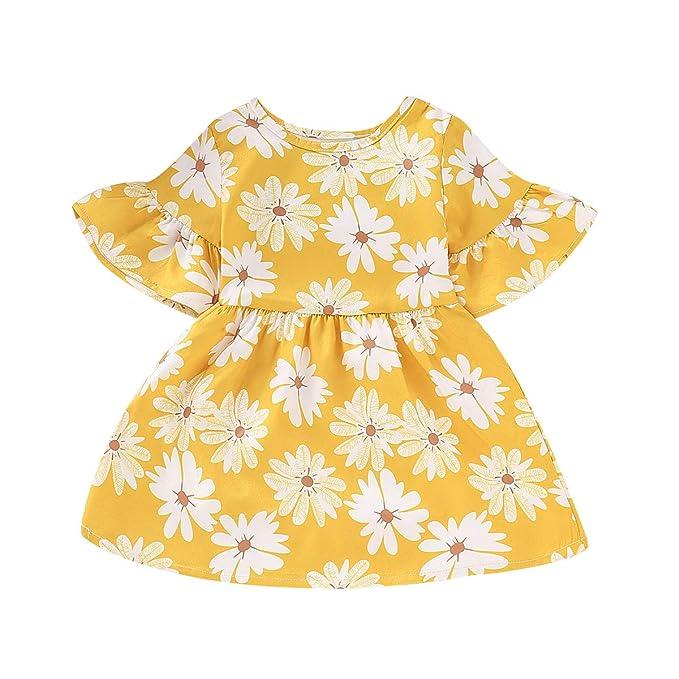 Amazon.com: MLCHNCO - Vestido de manga corta para bebé ...