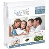 SafeRest Twin Extra Long (XL) Size Classic Plus Hypoallergenic 100% Waterproof Mattress Protector - Vinyl Free