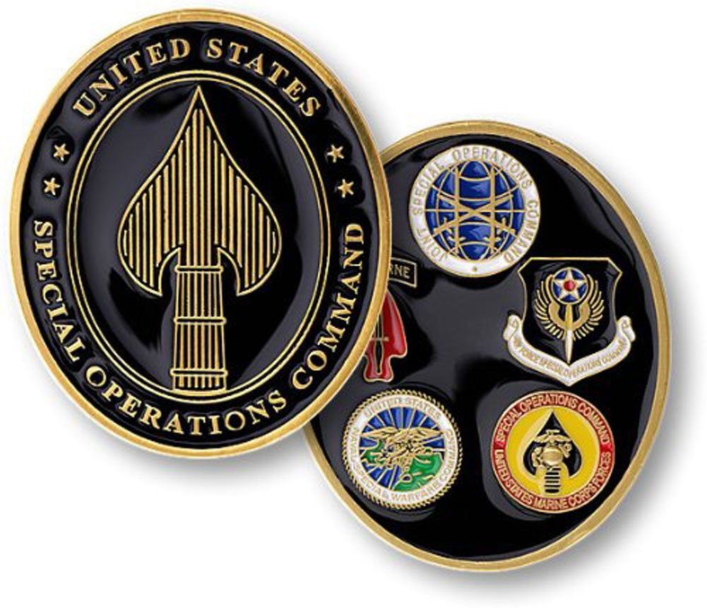 Special Operations Command Challenge Coin Armed Forces Depot U.S