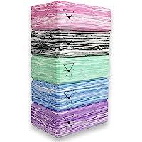 Base yoga Yoga Blocks - 1 of 2 stuks set - Unieke Sterke/Firm/Lichtgewicht EVA-schuimsteunblok/baksteen
