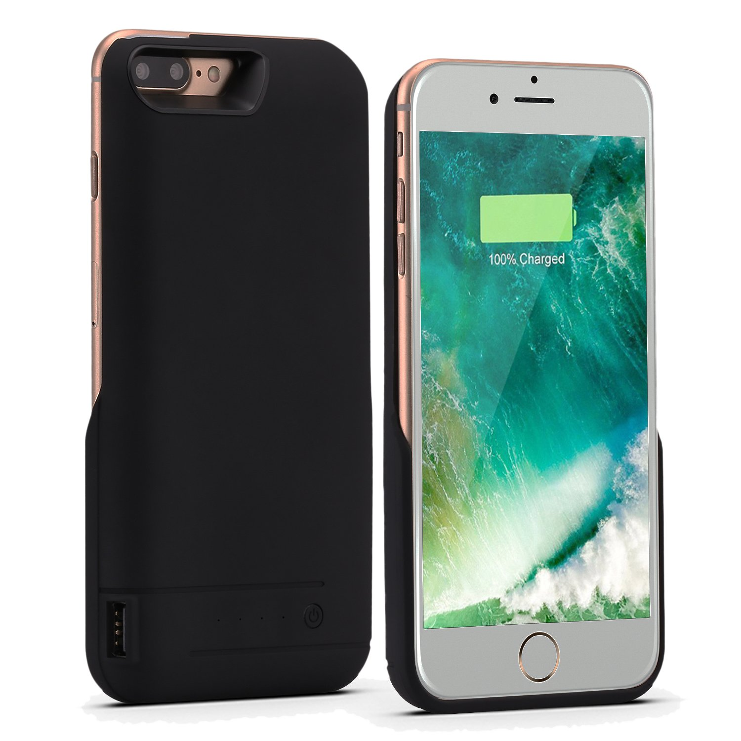iphone 7 plus battery case pemotech 8200mah iphone portable charger ultra ebay. Black Bedroom Furniture Sets. Home Design Ideas