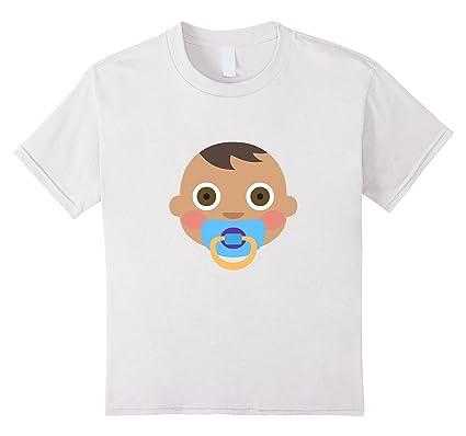 kids baby boy emoji t shirt pacifier bottle girl newborn toddler 10
