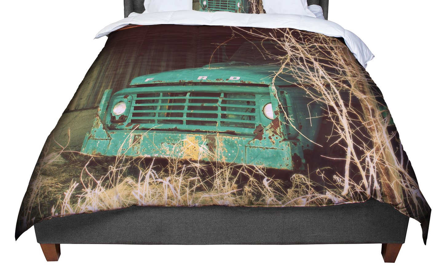 Cal King Comforter 104 X 88 KESS InHouse Angie Turner Ford Teal Car King