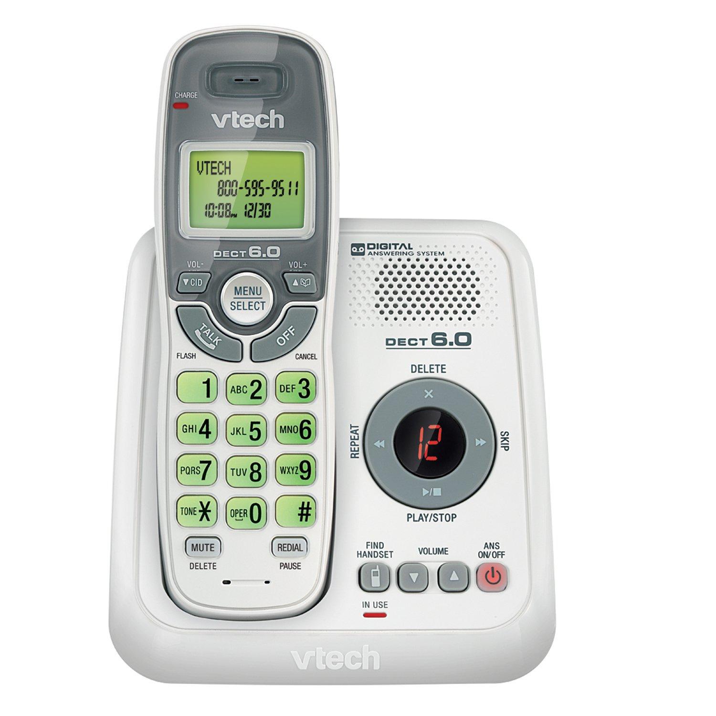 amazon com vtech cs6124 dect 6 0 cordless phone with answering rh amazon com VTech DECT 6.0 Manual PDF VTech DECT 6.0 Manual PDF