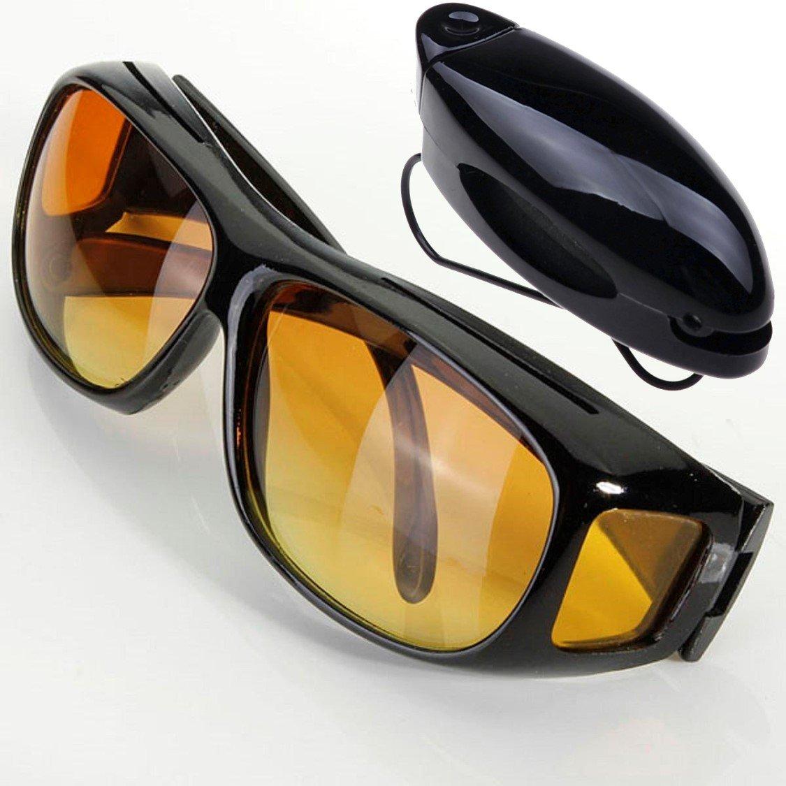Braun ► Fahr Occhiali Contrasto in macchina con occhiali protezione contro diffondono luce UV e rivestimento antiriflesso. Occhiali antiriflesso con contrasto elevato guadagno per Scharfes vedere bei schwierigem luce. XalpT
