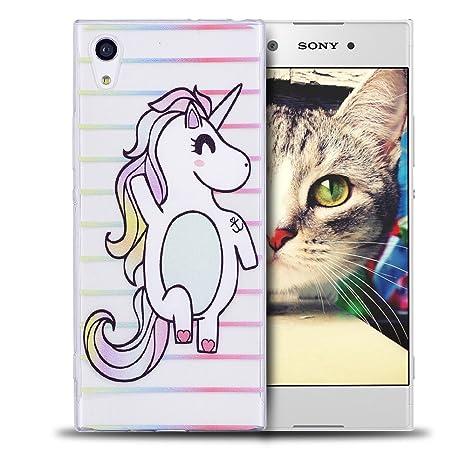 RosyHeart Funda Sony XA1, Ultra Delgado TPU Goma Carcasa ...