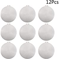 SUPVOX Plastic Canvas Circles DIY Handmade Stereo Embroidered Mesh Board Hollow Sheet 12PCS