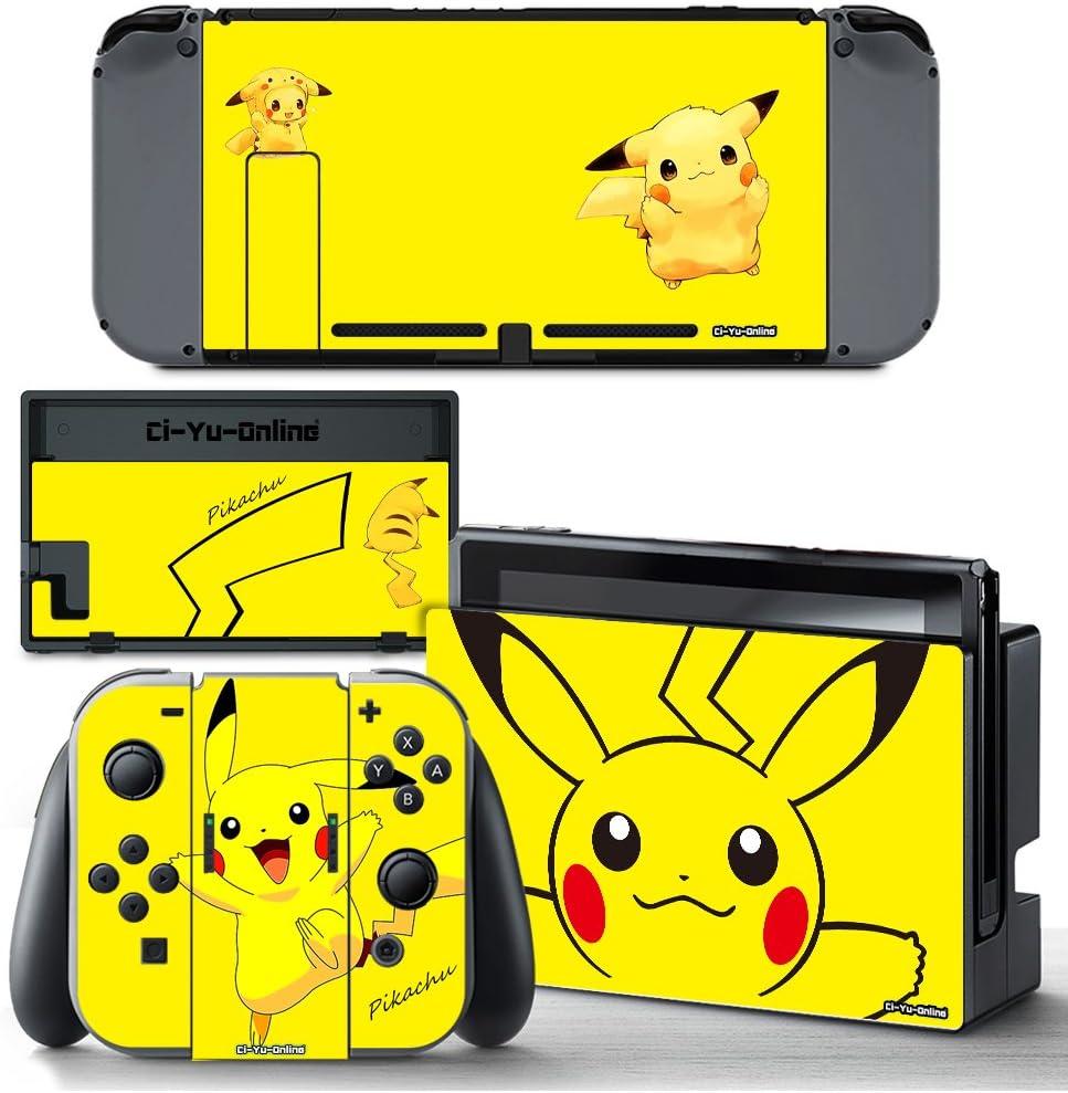 Amazon ci yu online vinyl skin ns pokemon pikachu yellow 1 image unavailable publicscrutiny Images
