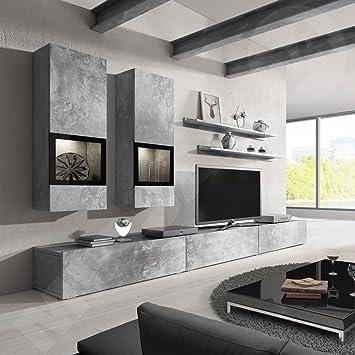 Superior Baros Wall Unit / Modern Entertainment Center / Contemporary Design / LED  Lights / High Capacity