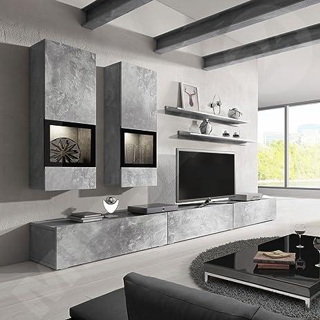 Amazon.com: Baros Wall Unit / Modern Entertainment Center ...