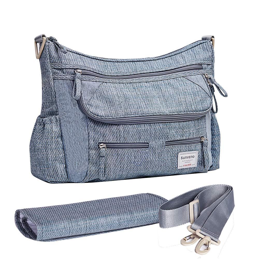 SUNVENO Baby Strollers Bag Organizer Waterproof Diaper Nappy Bag Stroller Accessories Shoulder Bag