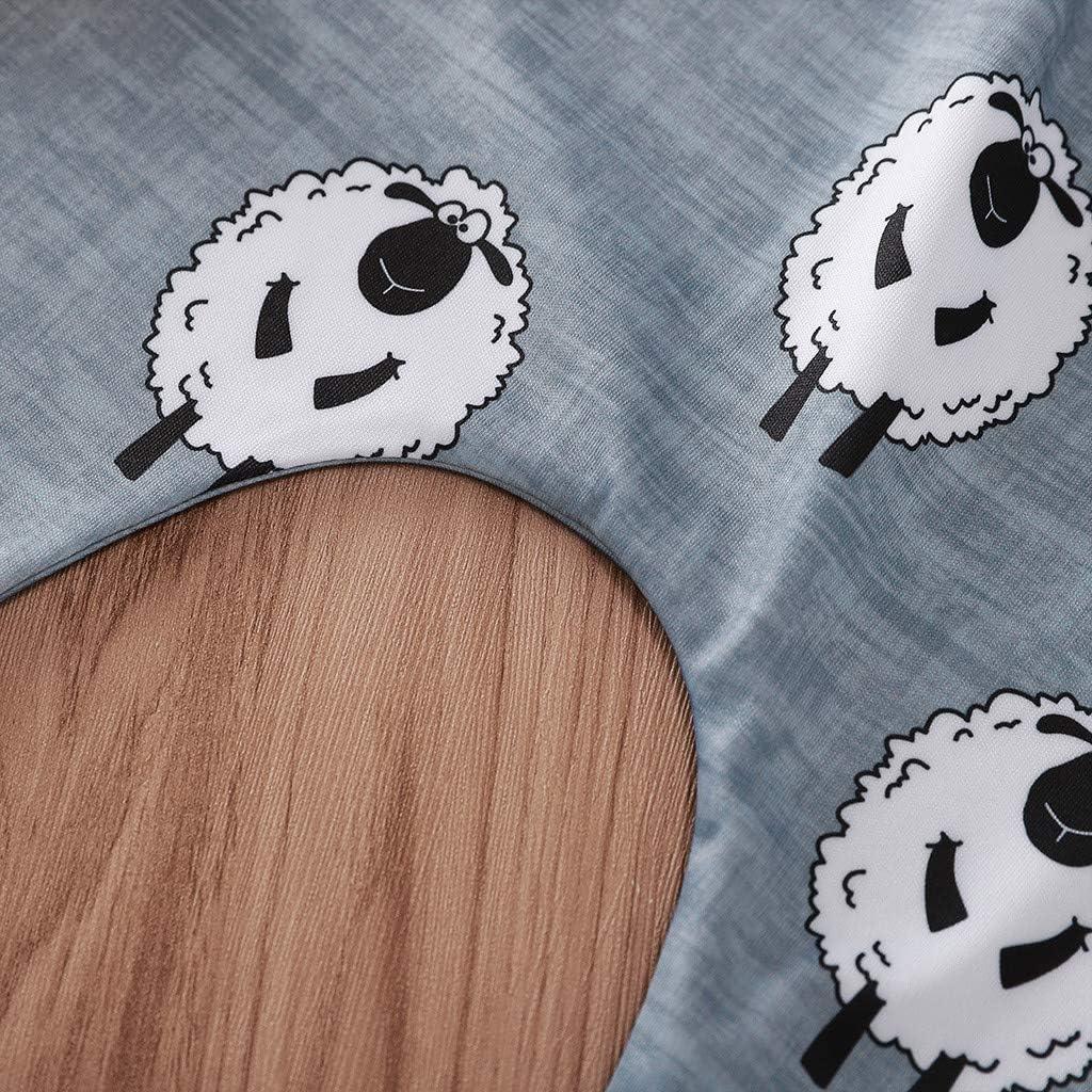 Pants Outfits,Childrens Long Sleeve Cartoon Lamb Printed Romper Pants Set AmaSells Newborn Infant Baby Girls Jumpsuit Trousers Sets Lovely Cartoon Sheep Print Romper