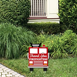 product image for Big Dot of Happiness Thank YouFirefighters - Outdoor Lawn Sign - First Responders Appreciation Yard Sign - 1 Piece