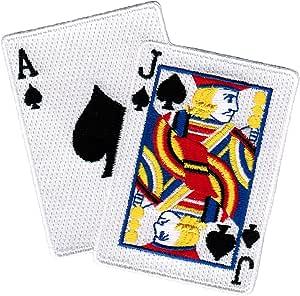 Tiny Kawaii Card Iron-On Applique Alice in Wonderland Hearts DIY Poker Casino Badge Lapel Shirt Jacket Accessory Mini Ace Card Patch