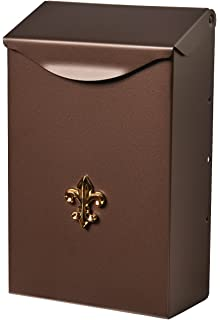 Gibraltar Mailboxes Classic Small Capacity Galvanized Steel Venetian  Bronze, Wall Mount Mailbox, BW110V04