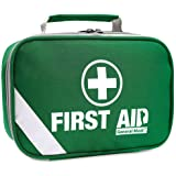 2-in-1 First Aid Kit (215 Piece) + Bonus 43 Piece Mini First Aid Kit - Includes Emergency Blanket, Instant Cold Pack, Whistle, Eyewash Perfect for Home, Car, Camping, Boat and Traveling
