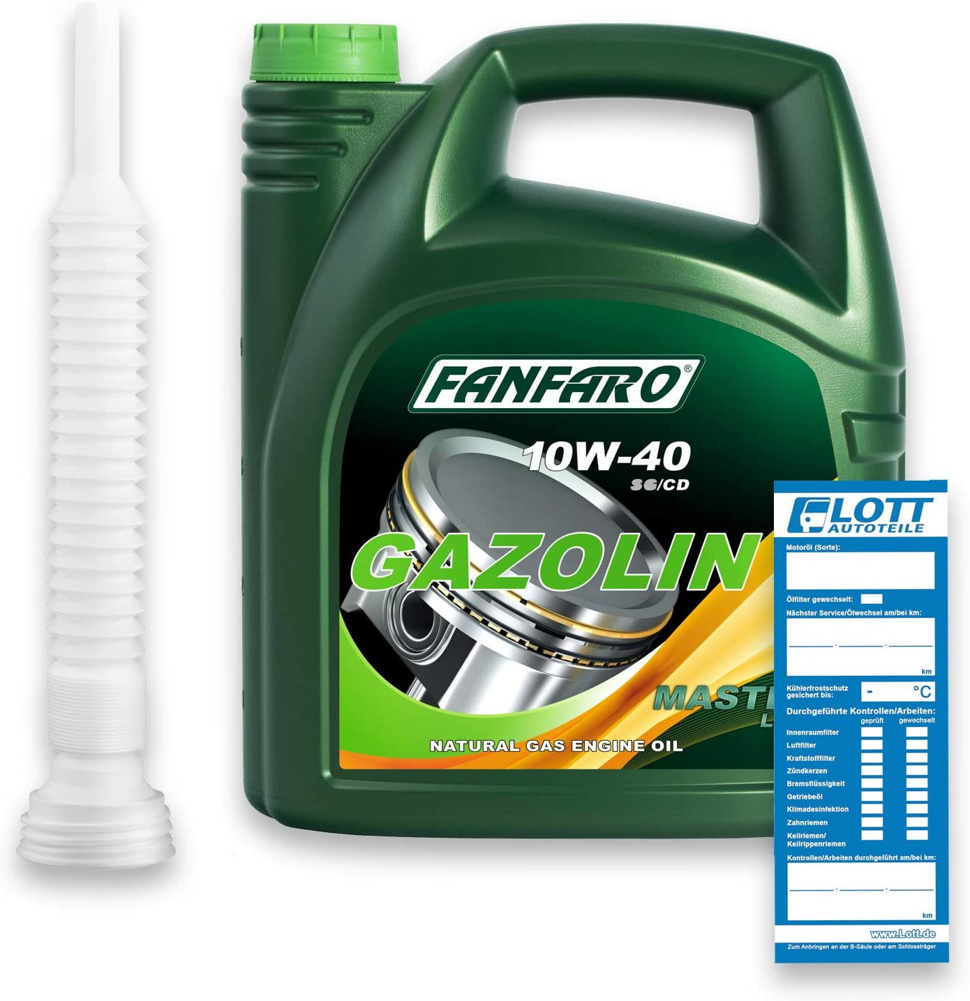Fanfaro 10w40 10w 40 Gasoline Motoröl Api Sg Cd 5 Liter Öl Ablassschlauch Auto