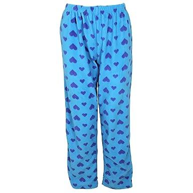 Womens Ladies Selena Secrets Soft Heart Pyjamas Fleece Nightwear Bottoms